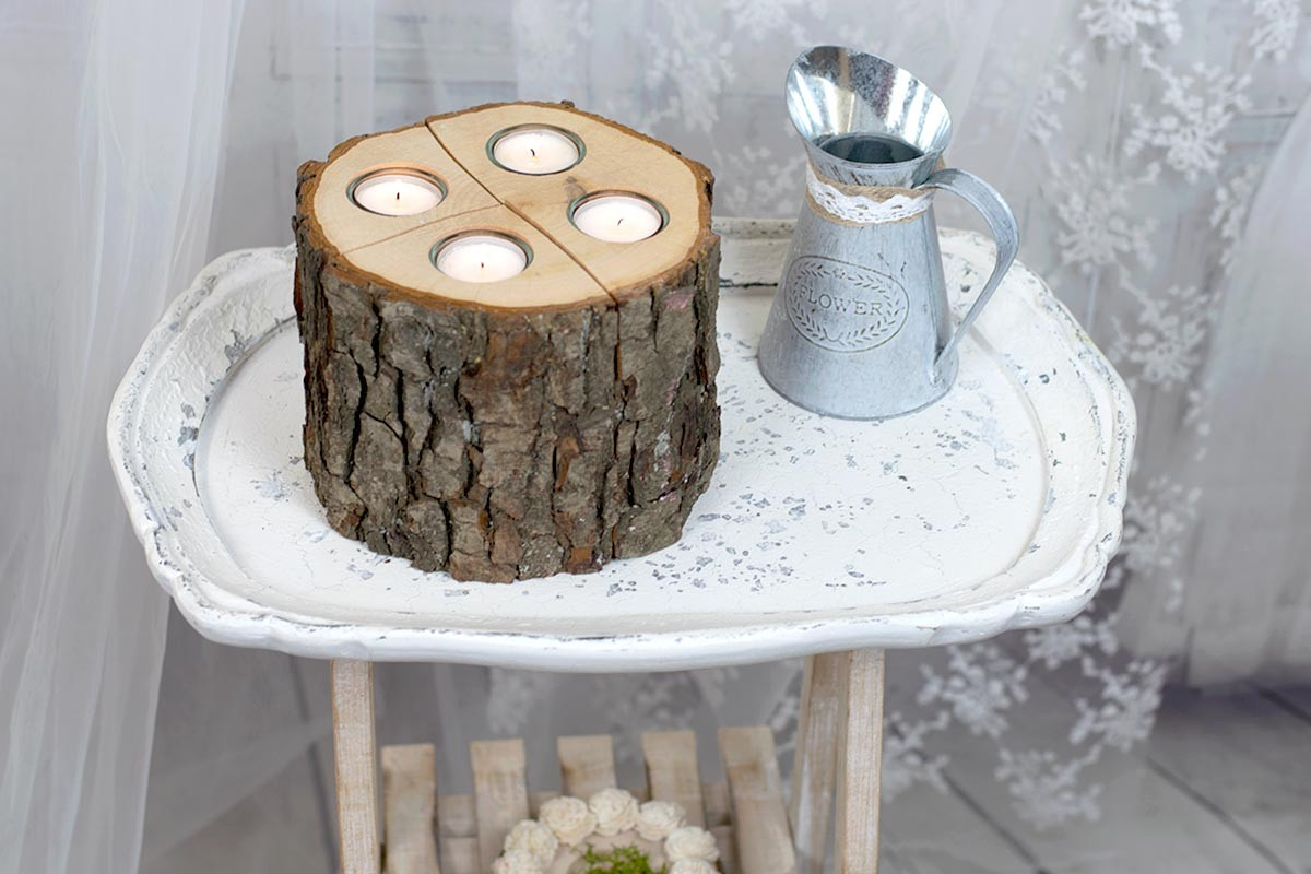Wood Stump Candle